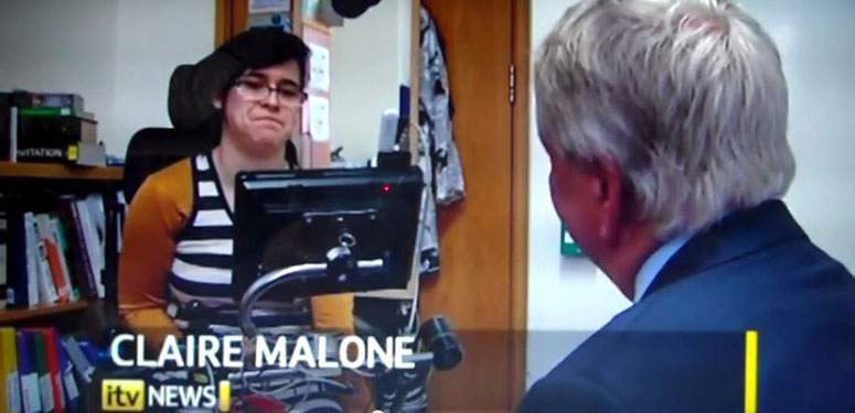 Claire Malone on ITN News